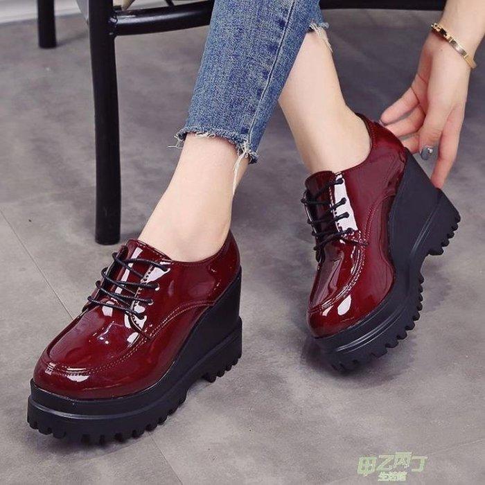 交換禮物 鞋子女新品英倫原宿小皮鞋學生鬆糕鞋厚底女鞋chic單鞋港味鞋