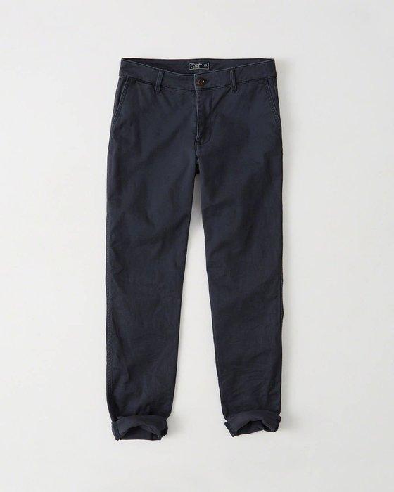 Maple麋鹿小舖 Abercrombie&Fitch * AF 深藍色休閒長褲 * ( 現貨27號 )
