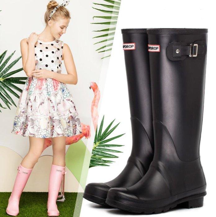 雨鞋 防水雨靴 女士膠鞋時尚水靴 防滑戶外成人高筒雨鞋女—莎芭