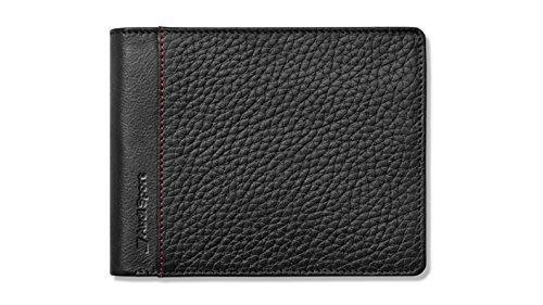 德國奧迪【Audi】10卡零錢袋短夾錢包皮夾- (運動款) 立體格紋質感黑 德國製造