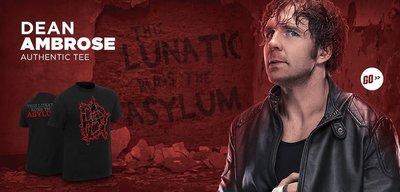 ☆阿Su倉庫☆WWE Dean Ambrose This Lunatic Runs the Asylum T-Shirt