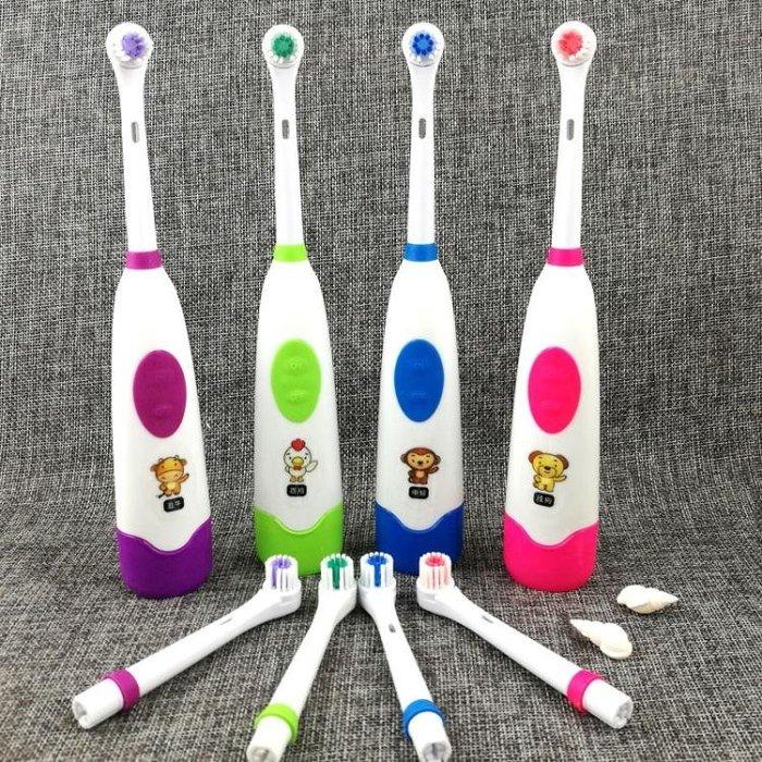 兒童牙刷電動牙刷旋轉式寶寶小孩牙刷軟毛 兒童卡通牙刷 自動牙刷