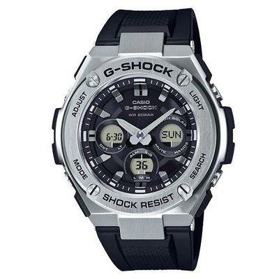 G-SHOCK創新突破分層防護雙層結構休閒錶(GST-S310-1A)銀黑52.4mm