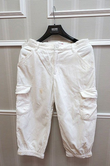 *Beauty*女大童WHY &1/2米白條絨長褲  15 號   300 元GR
