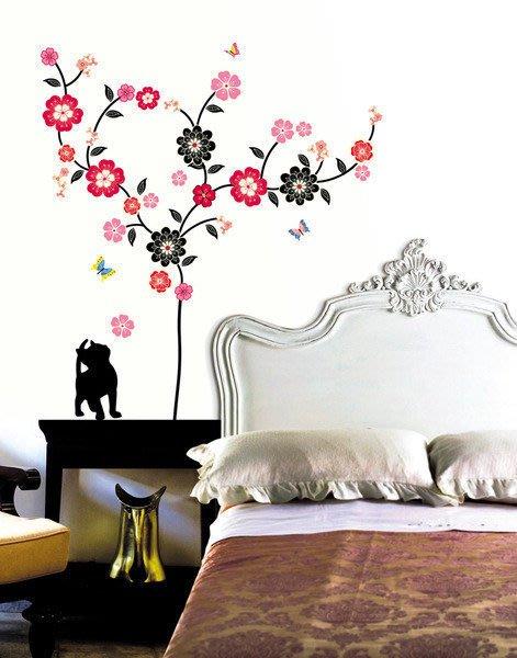 【皮蛋媽的私房貨】韓國壁貼&壁紙*室內設計/裝飾*樹下一隻小黑貓