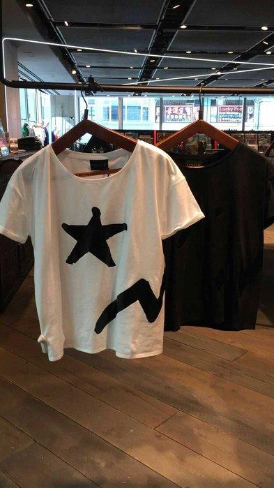 agnes.b 正品Sport b.新款星星巴克龍尾巴 短袖 T恤 黑白情侣tee