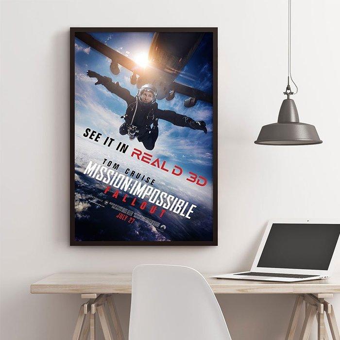 INHUASO 癮|画|所 不可能的任務Mission:Impossible全面瓦解電影系列海報掛畫湯姆克魯斯裝飾畫版畫