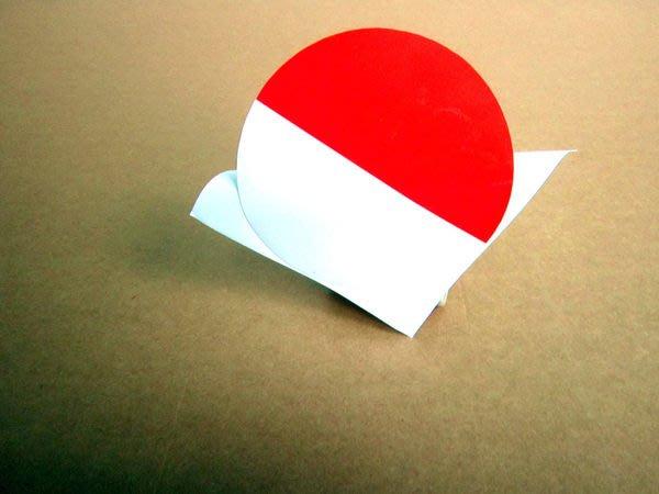 【國旗貼紙專賣店】印尼國旗圓形行李箱貼紙/抗UV防水/Indoneia/多國款可收集和客製