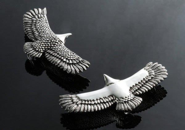 【創銀坊】印地安 老鷹 925純銀 墜子 翅膀 印第安 羽毛 哈雷 重機 酋長 goro's 皮繩 項鍊(P-1704)