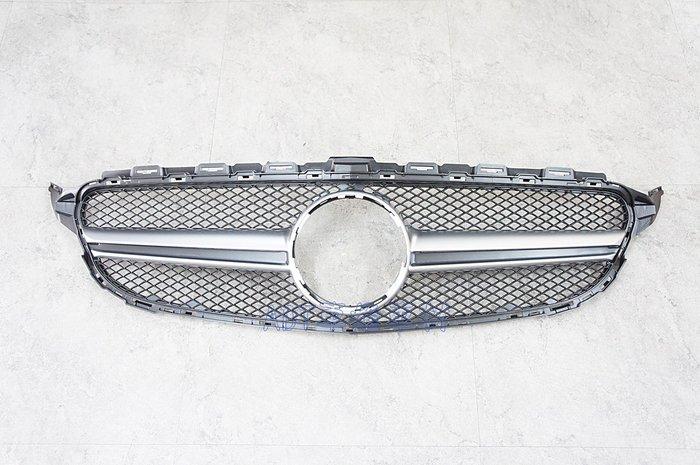 ~~ADT.車材.車材~~BENZ W205 C63 1:1 中雙線霧銀大星網狀水箱護罩 C250 C300 C400