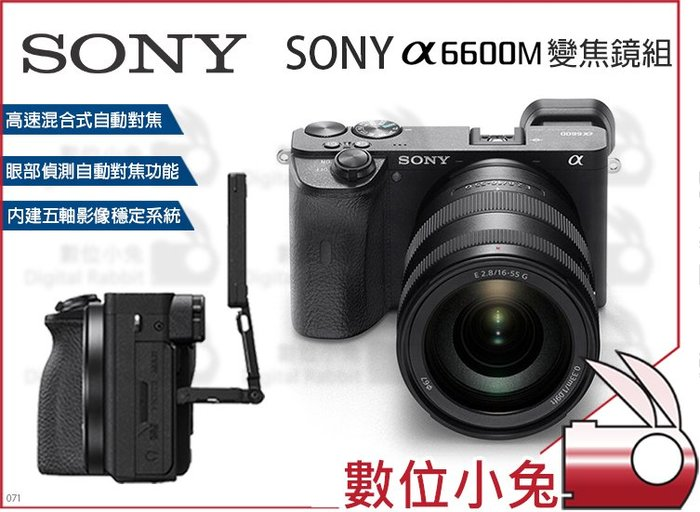數位小兔【SONY A6600M 變焦鏡組】SEL18135 α6600M 公司貨 相機 送電池 ILCE-6600M