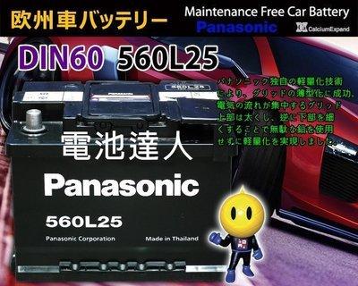 〈電池達人〉國際牌電池 560L25=56220=56214=56224=55566 GOLF TIGUAN MINI
