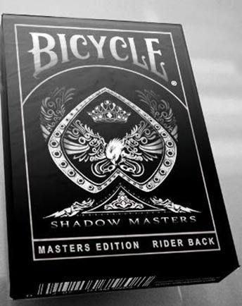 美國原廠Bcycle撲克牌 Shadow Masters闇影大師牌 ~黑色漸層印刷 超優質感~ 鬼牌條碼可預言