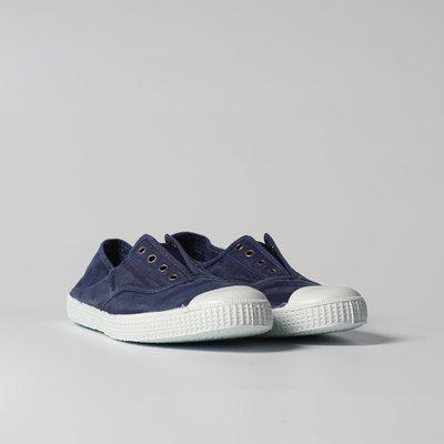 西班牙國民帆布鞋 CIENTA 大人尺寸 洗舊 深藍色 香香鞋 70777 84