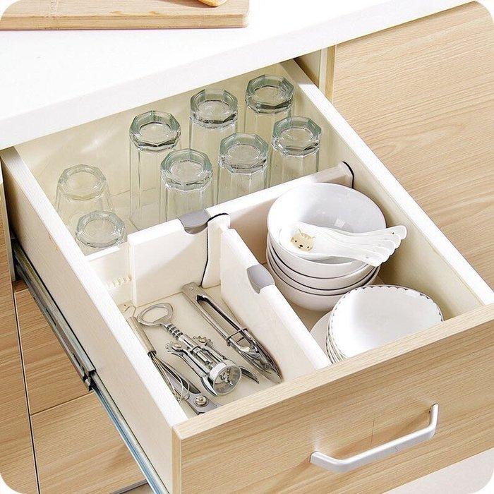 長款可調節抽屜伸縮隔板 收納箱 置物架 收納盒 DIY層架分隔板 伸縮式分類收納擋板