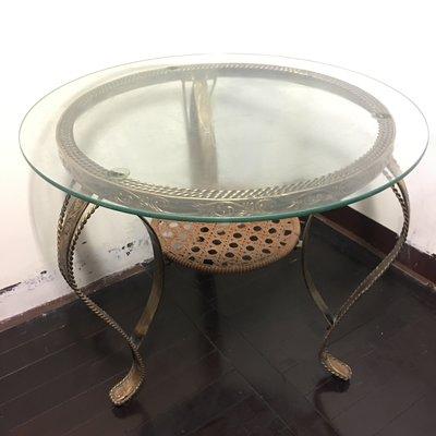 #誠可議# 二手 休閒桌 強化玻璃桌 造型桌 置物桌 #買家自行搬運取貨#