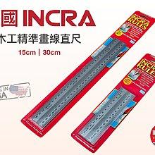 【無思木作】美國INCRA 精準畫線直尺 洞洞尺 15cm 美國製 木工 直尺