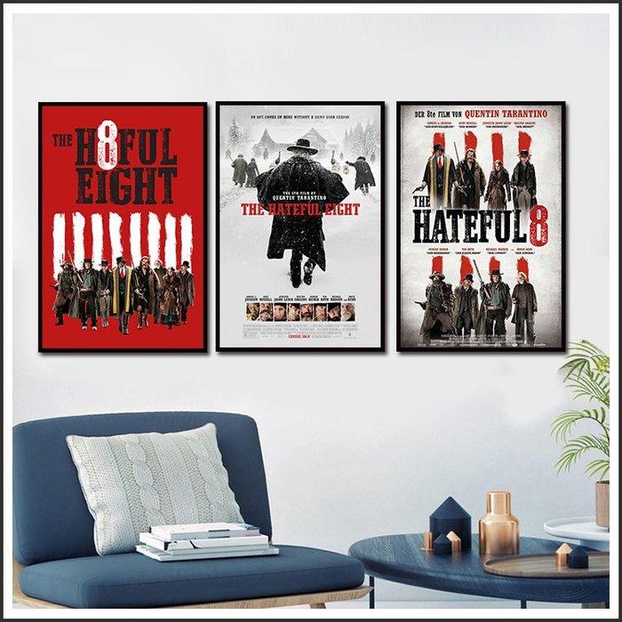 日本製畫布 電影海報 八惡人 The Hateful Eight 掛畫 嵌框畫 @Movie PoP 賣場多款海報~