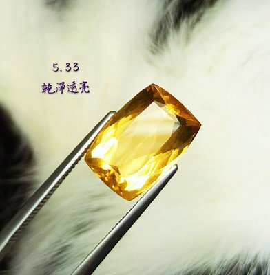 【台北周先生】天然金黃綠柱石 5.33克拉 頂級放光 專家收藏級 完美等級IF 濃郁金黃色 無燒