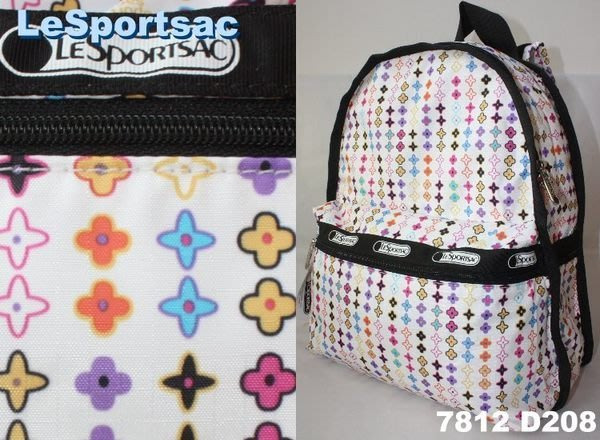 【LeSportsac】100% 全新正品 7812 D208 / ROULETTE 基本款 後背包【適A4文件】