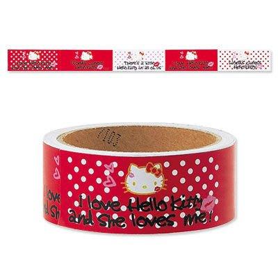 *凱西小舖*日本進口日製三麗歐正版KITTY凱蒂貓GIRL紅唇系列貼紙