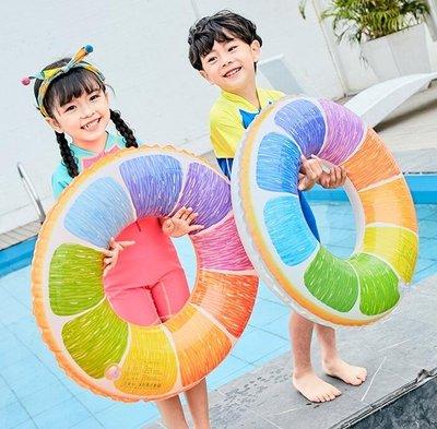 兒童游泳圈成人救生圈男女童寶寶大人加厚泳圈3-6-10歲游泳裝備