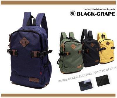 韓系學院風豬鼻書包/後背包【3202】黑葡萄包包
