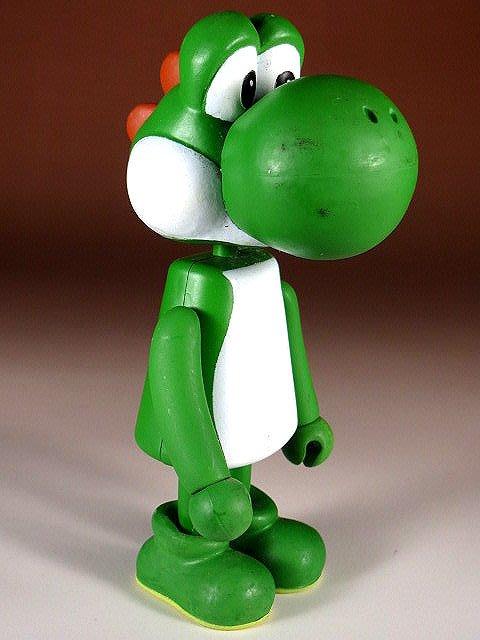 【 金王記拍寶網 】M326  SUPER MARIO 瑪莉歐系列 小木偶 公仔 耀西一尊 罕見稀少