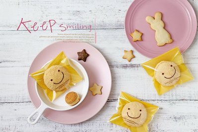 ☆╮Jessice 雜貨小鋪二館╭☆微笑日日 OPP 彩色 自黏 糖果袋 10x10cm 100入±2%/85元