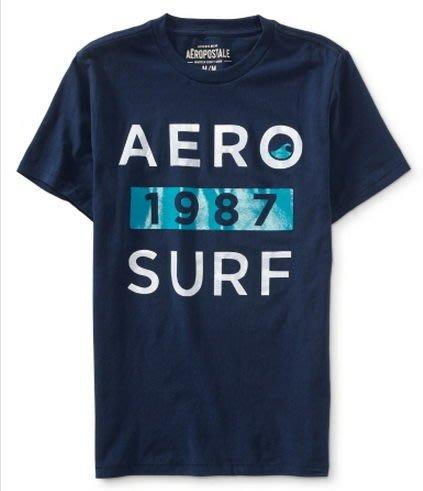 美國『AERO』_AEROPOSTALE_aero 1987 surf graphic t 1987衝浪圓領T恤