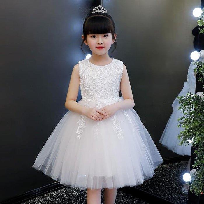 (免運)童裝女童洋裝連身裙花童婚紗禮服兒-【壹心壹意】