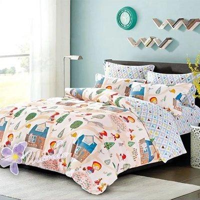 精梳棉四件式被套床包組 標準雙人-1組 (童話世界) 4947405001【KP01017】JC雜貨