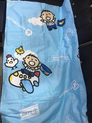 購自台灣 全新未用過 大口仔飛機師造型床單 可作外遊衛生舖床用 單人床 冇枕頭套