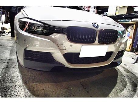 DJD19032010 BMW F30 328  霧黑水箱罩  LOOK  單線 消光黑