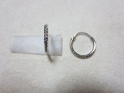 玉寶- 585K金耳扣--細珠點○型