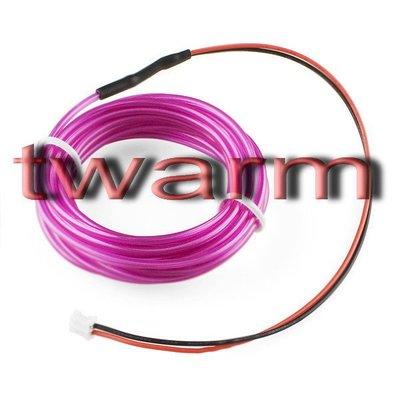 《德源科技》r)Sparkfun原廠 EL Wire冷光發光條3m - Purple紫色 (COM-10196)