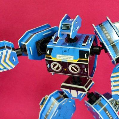 佳廷家庭 親子DIY紙模型立體勞作3D立體拼圖專賣店 機器人裝甲獸 射手座 關節可動Microrobot麥克羅伯
