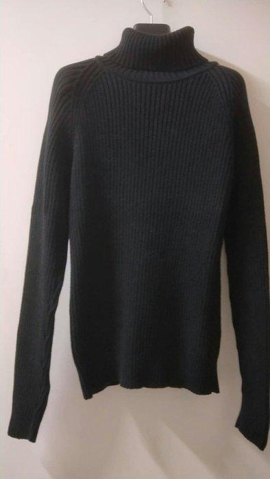 厚高翻領保暖針織衫