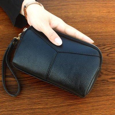 手拿包  手拿包新款日韓時尚手拿包女大容量貝殼包拉鏈手抓包零錢包女包