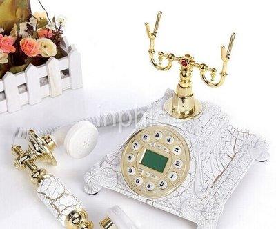 INPHIC-滿堂紅復古電話機歐式電話機座機家用復古電話機固定老式電話