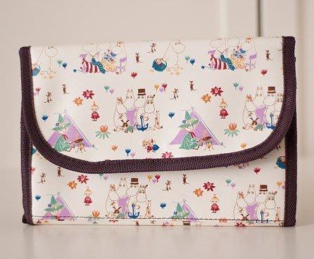 [瑞絲小舖]~[推薦]日單Moomin姆明泡泡夾棉多功能母子手賬包 萬用手帳包 收納袋 護照零錢包 文件收納袋