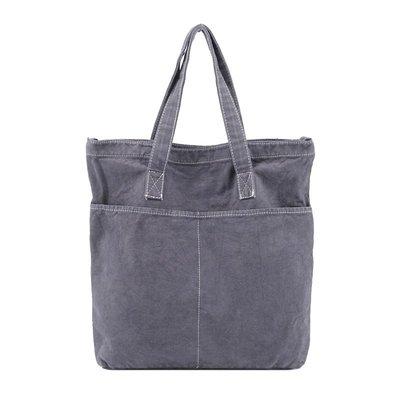 單肩包 帆布 手提包-做舊休閒多口袋棉質女包包4色73wo49☆奧莉芙☆