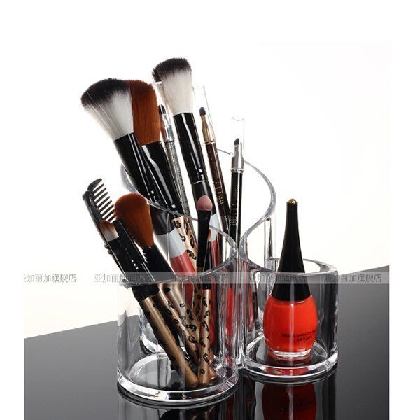 5Cgo【鴿樓】會員有優惠 41779621195 透明化妝刷筒 專業化妝刷收納桶 彩妝刷桶 刷具桶 筆筒 收納整理盒