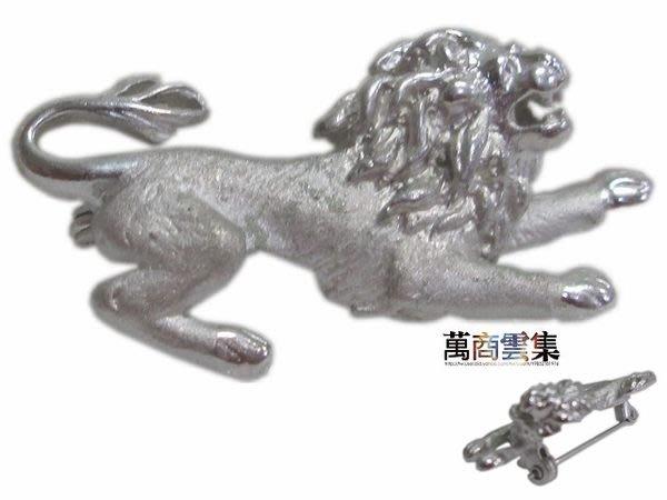 [萬商雲集] 母親節精選優質商品 帥氣霸氣仿銀飾 獅王胸針 別針