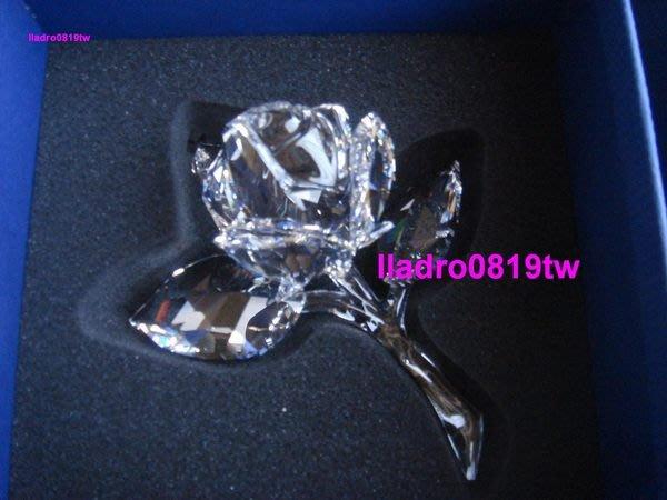 (全新~生日禮物)施華洛世奇水晶  Rose 玫瑰盛開(長12.5cm) 絕版(另麥森baccarat)