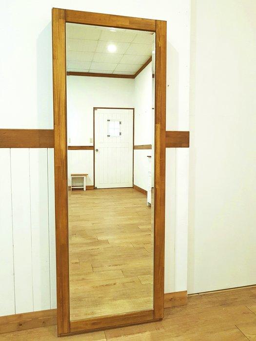 穿衣鏡  松木 實木 收納 **樂在幸福**木作坊~A168~穿衣鏡