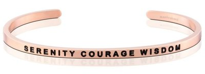 MANTRABAND 美國悄悄話手環 Serenity Courage Wisdom 寧靜勇氣智慧 玫瑰金