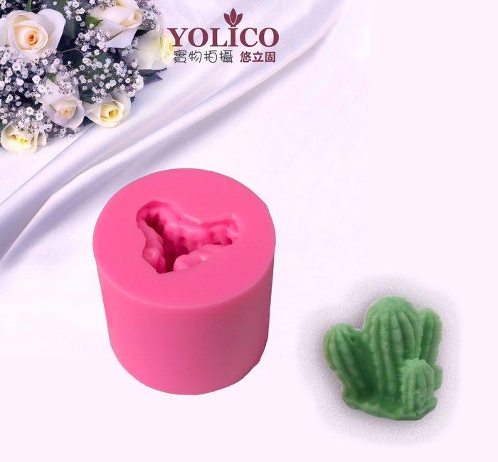 【悠立固】Y540 仙人掌液態矽膠模 多肉植物矽膠模具 手工皂模 蛋糕烘焙工具 巧克力模 蠟燭模 防蚊石 薰香模 食品級
