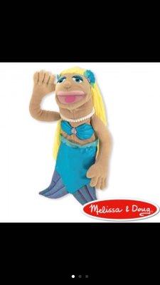 美國Melissa&doug 手偶-美人魚