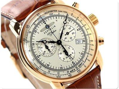 ZEPPELIN 齊柏林飛船 手錶 100週年 42mm 德國 飛行錶 航空錶 7680-5